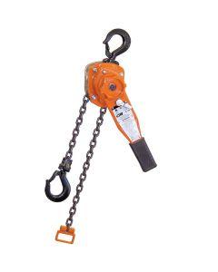 CM Series 653 Lever Chain Hoist 1 1/2 Ton: 10 ft Lift