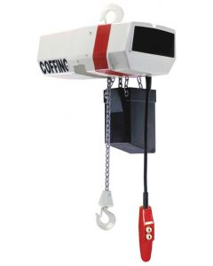 Coffing, EC 1 Ton Electric Hoist, 16 fpm-15-Motorized Trolley
