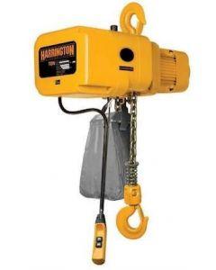 Harrington, 1 Ton Electric Hoist, 3 Phase, 14 fpm-10-Hook