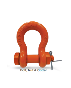 "8 1/2 Ton CM Safety Bolt, Nut & Cotter Shackle, 7/8"" Carbon"