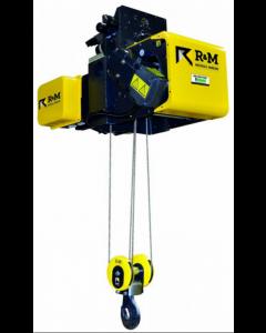 "R&M - 5 Ton Electric Wire Rope Trolley Hoist.  19'-8"" Lift, Hoist 20/3.3 FPM, Trolley 7.2/1.2 FPM, 4 PS"