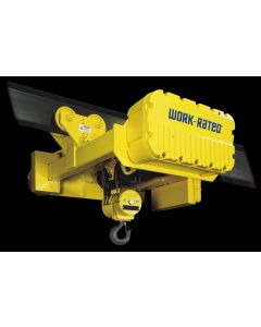 Acco Work-Rated, 10-Ton Electric Wire Rope Hoist, 15 fpm, 36 ft Lift, Deck Mount